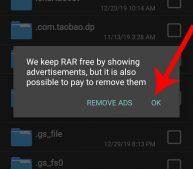 allow ads to be shown on rar