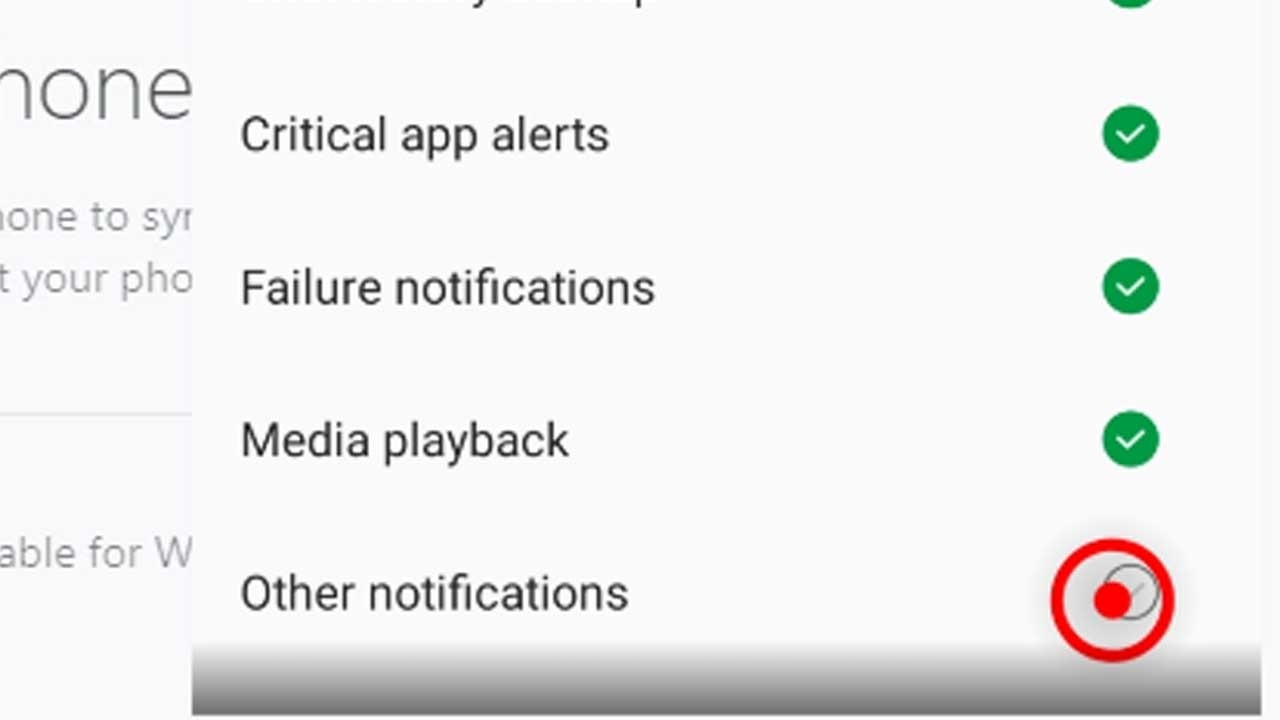 13. uncheck other notifications