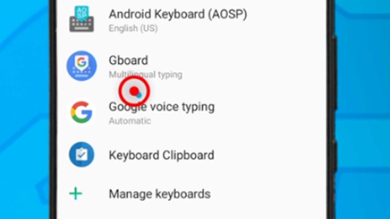 12. select keyboard app