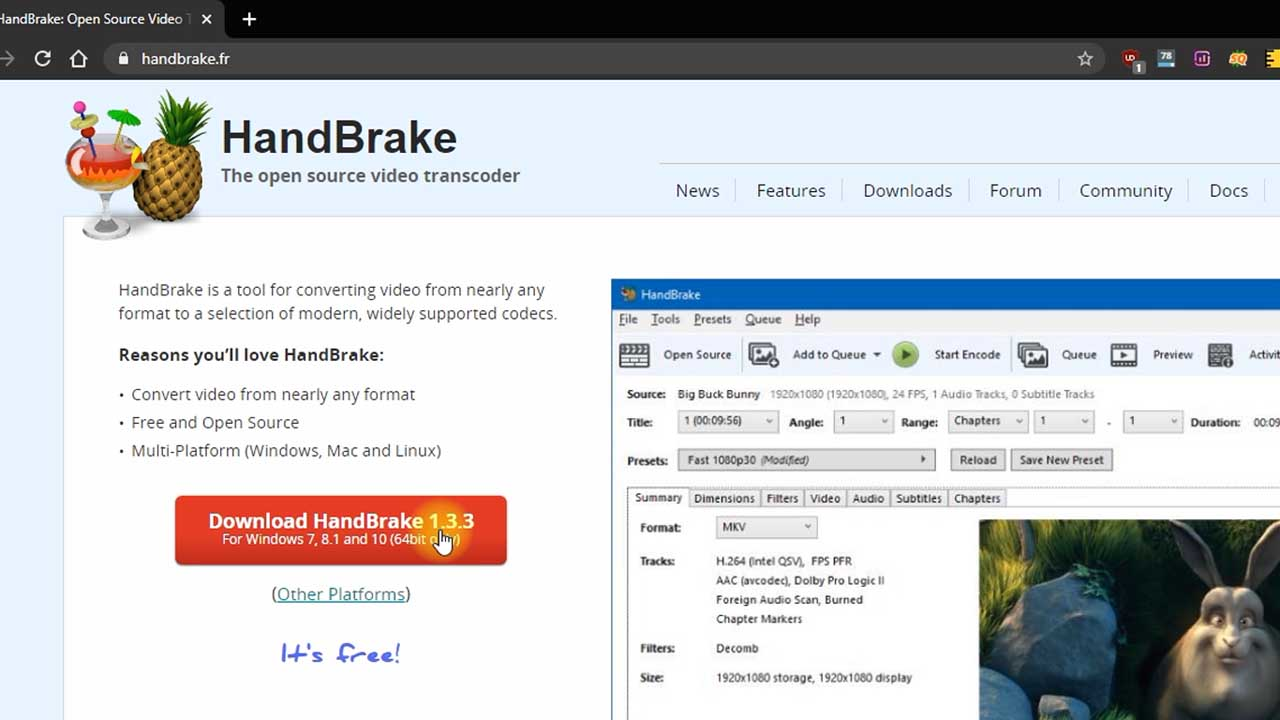 2 download handbrake