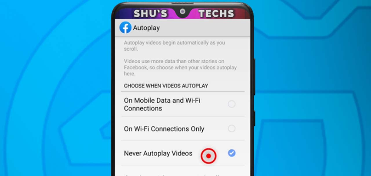 6. facebook autoplay menu