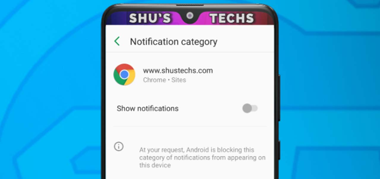 8 chrome android notification turned off