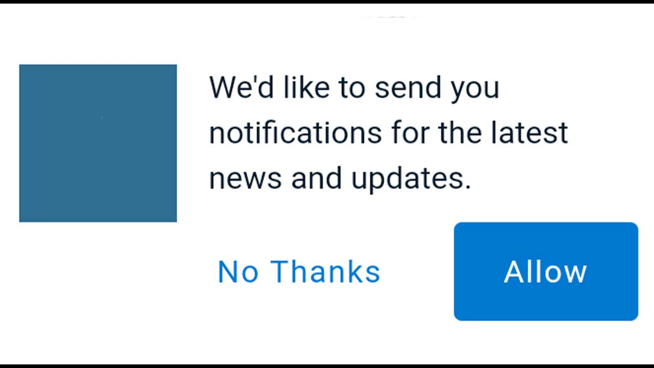 push notification optin sample