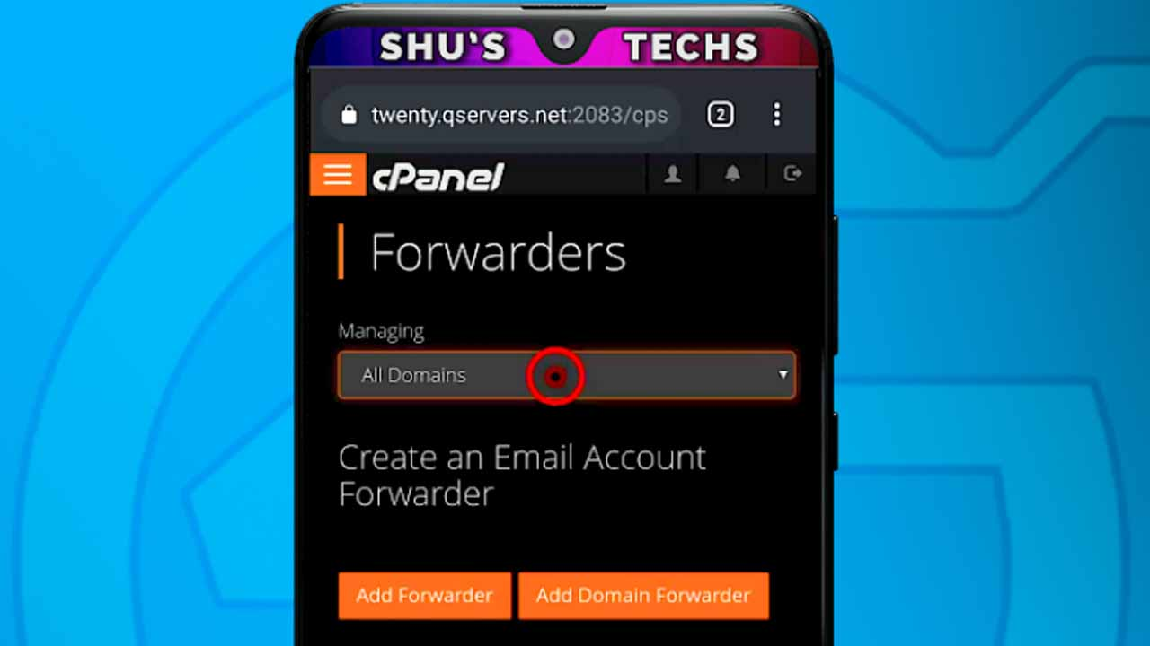 3 cpanel email forwarders interface