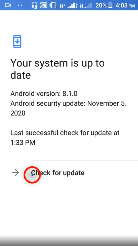 4 check for update