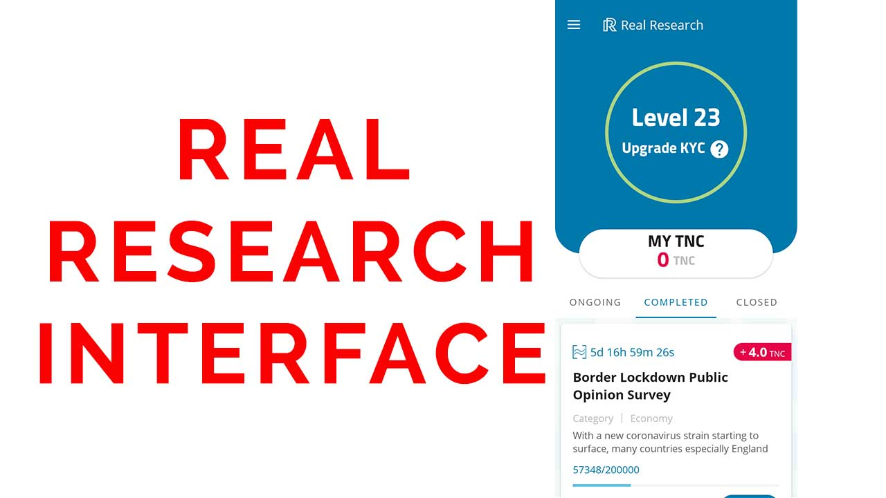 real research app interface