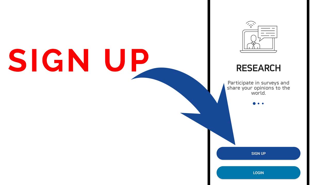 real research survey app sign up